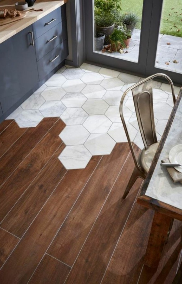 Le carrelage hexagonal une tendance qui fait son grand for Carrelage hexagonal parquet