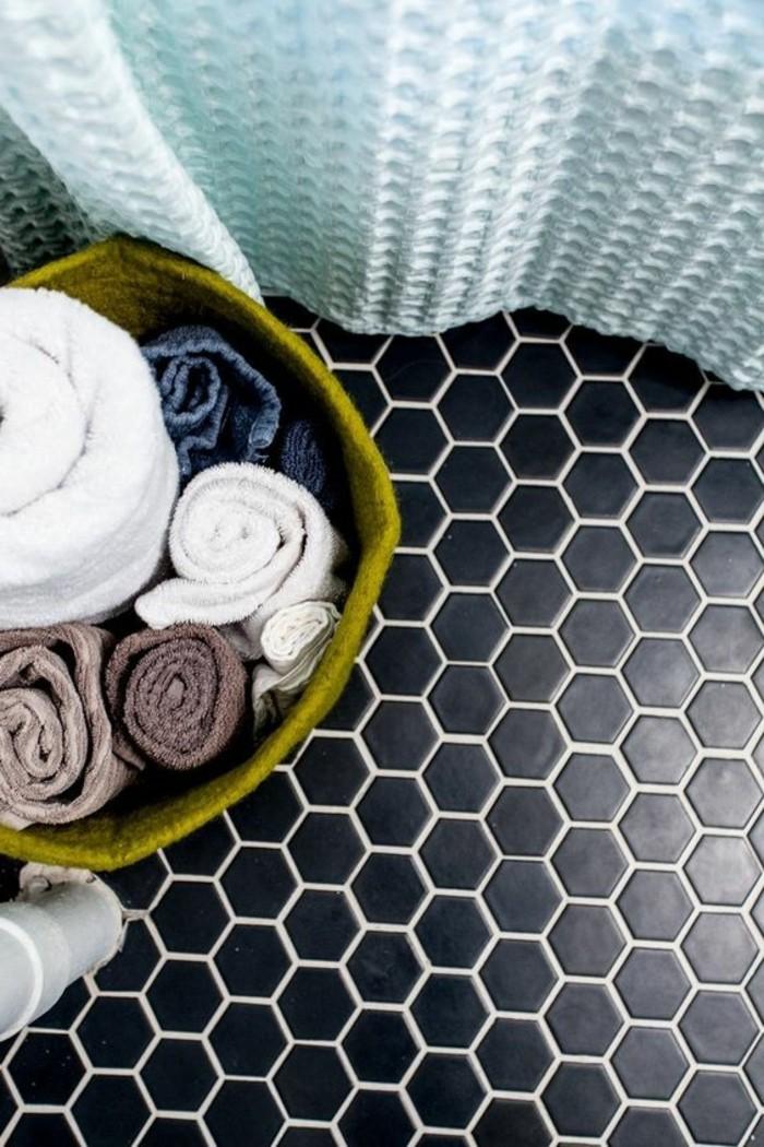 carrelage-hexagonal-mosaique-couleur-noire