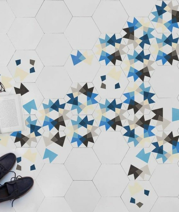 carrelage-hexagonal-motifs-originaux