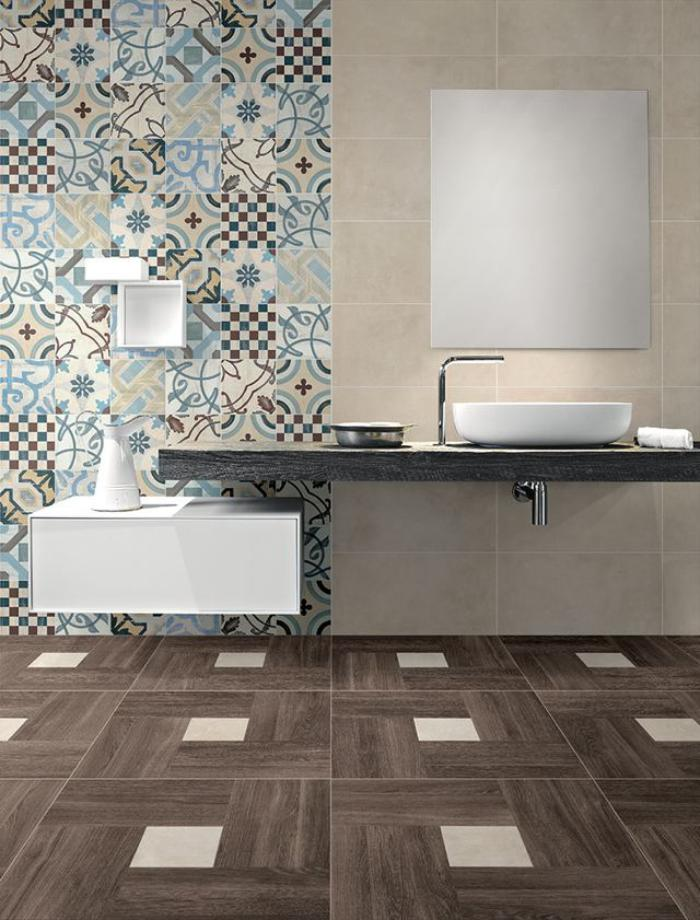 Le carrelage imitation bois en 46 photos inspirantes for Carreaux salle bain