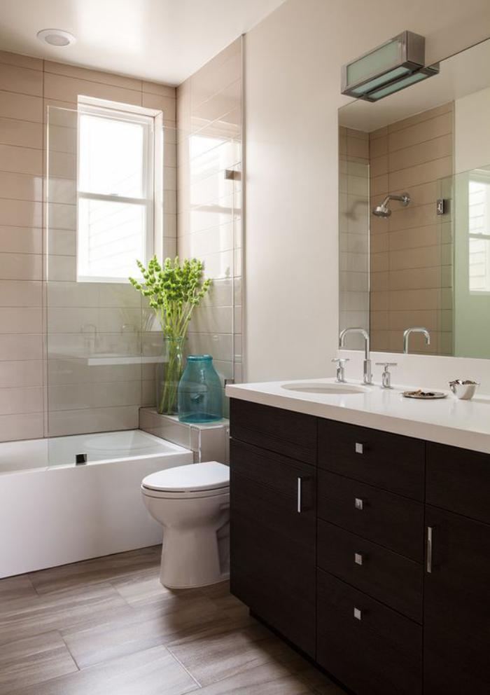 Le carrelage imitation bois en 46 photos inspirantes - Salle de bain avec parquet ...