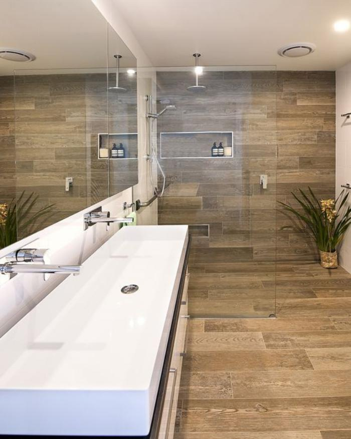 Belmont White Ash in addition Holzoptik Fliesen Eine Fantastische Alternative furthermore 9 also An Island Bathroom By Fiorito Interior together with Wood Deck Tiles. on bathroom tile that looks like wood