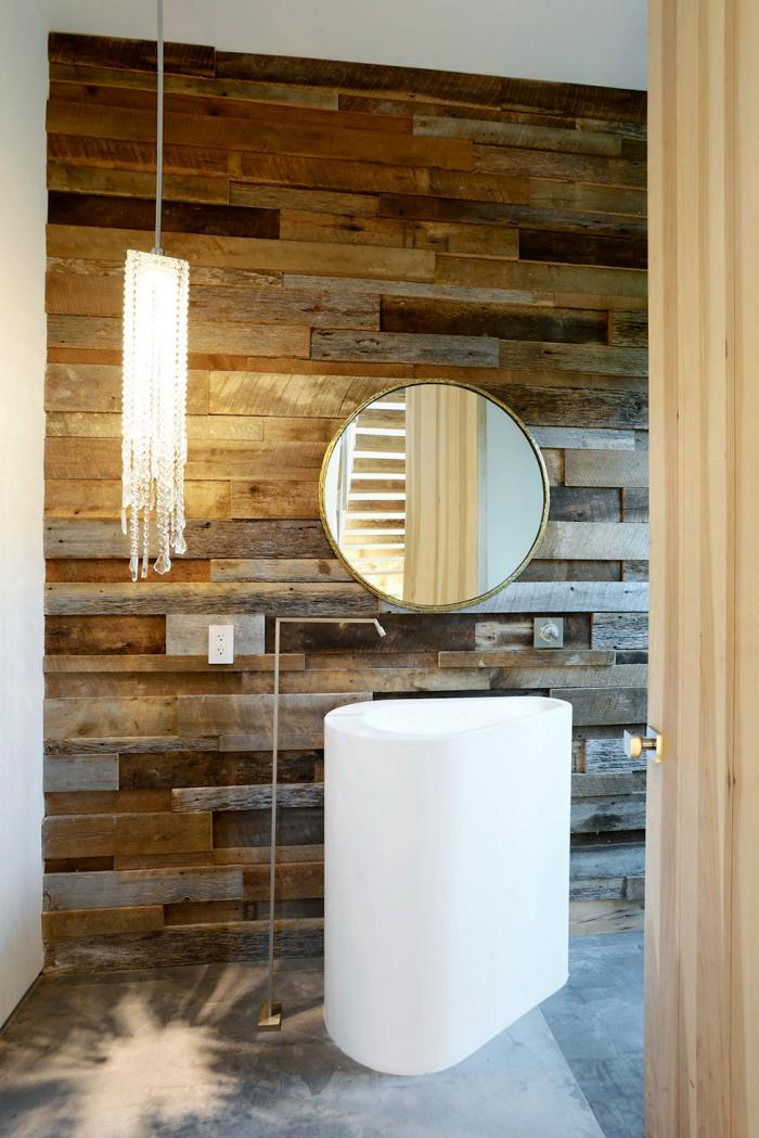 Le carrelage imitation bois en 46 photos inspirantes for Salle de bain design bois