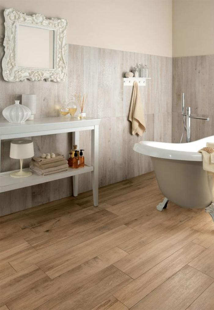 Le carrelage imitation bois en 46 photos inspirantes for Salle bain originale