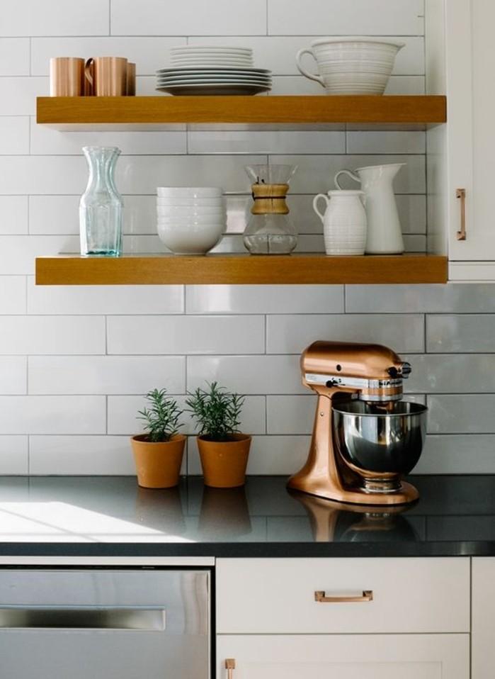 le carrelage m tro blanc fait fureur dans la cuisine. Black Bedroom Furniture Sets. Home Design Ideas