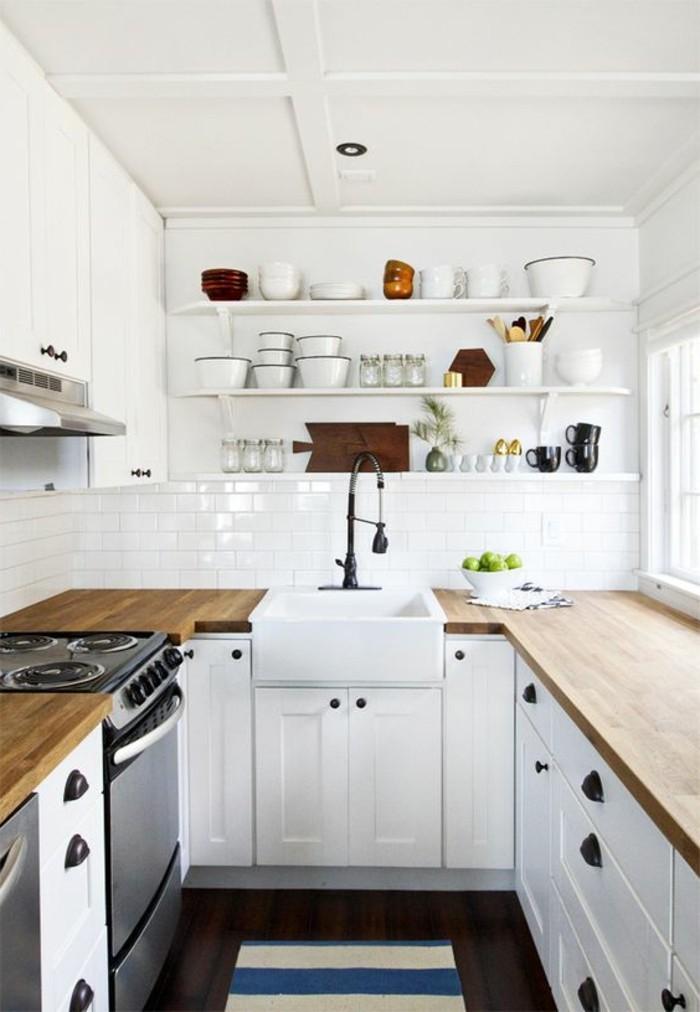 Le carrelage métro blanc fait fureur dans la cuisine - Archzine.fr