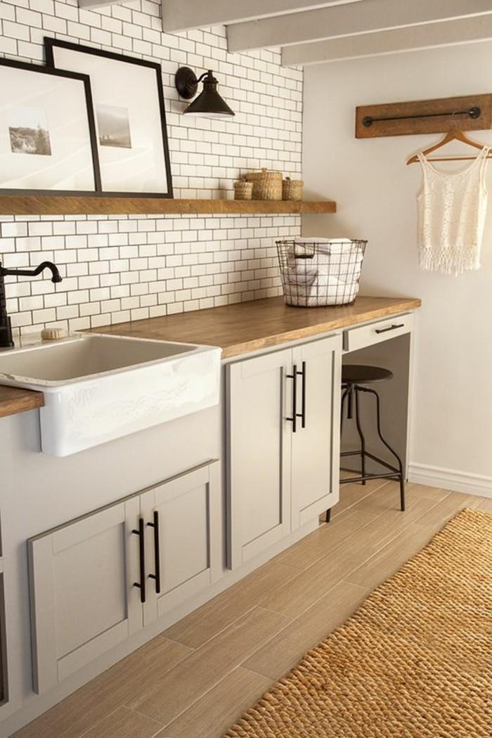 Le carrelage m tro blanc fait fureur dans la cuisine for Decoration carrelage de cuisine