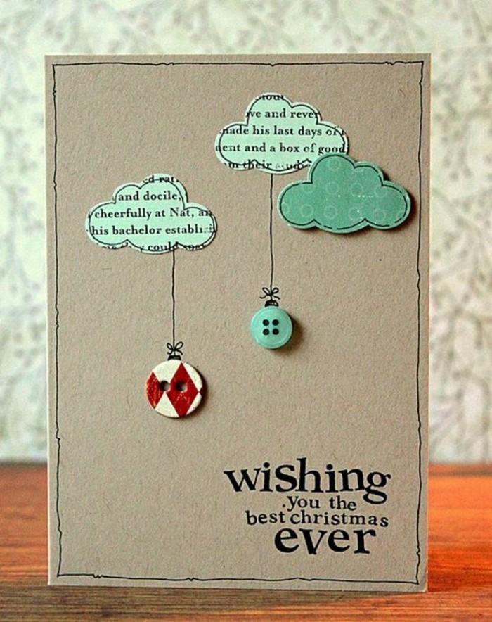 cartes-de-voeux-originales-avec-des-boutons-colores-et-des-nuages-decoupe-en-papier