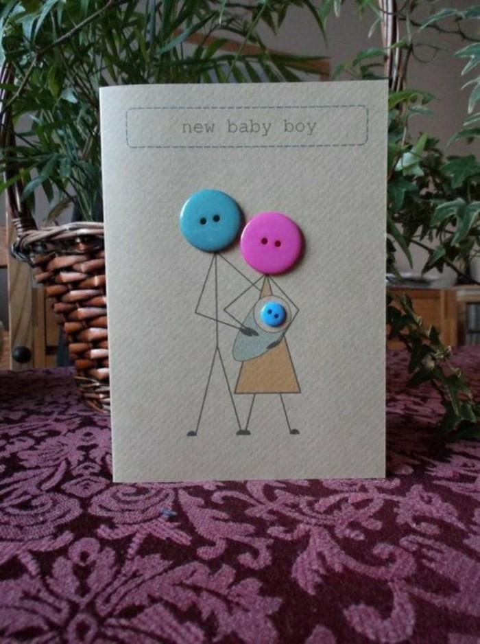 cartes-voeux-gratuites-avec-des-boutons-colores-carte-de-voeux-nouveau-ne-garcon