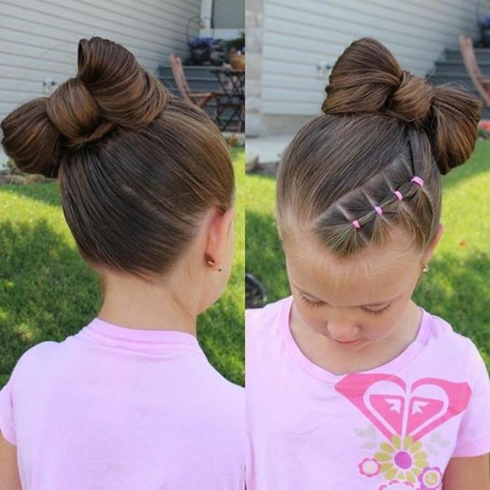 Coiffure pour petite fille sur cheveux long