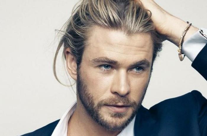 coiffure homme avec meche blonde