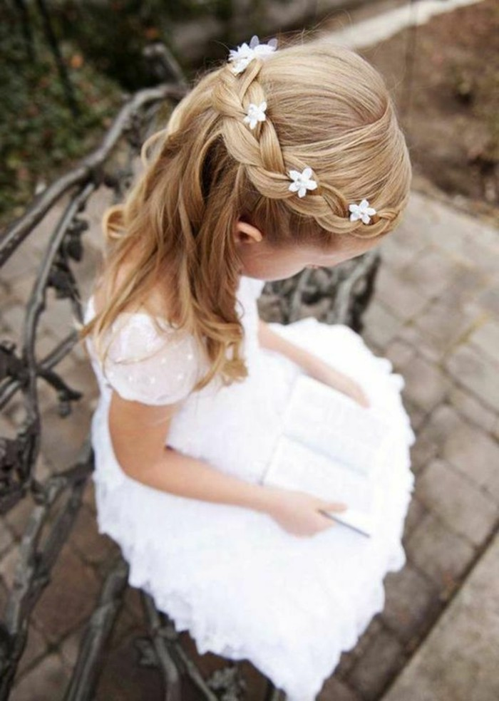 Coiffure Petite Fille Mariage Tresse Egyptienne Pour Coupe Clm