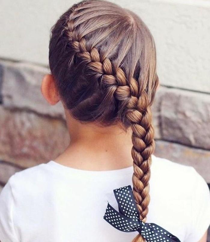 coiffure-petite-fille-tresse-tres-esthetique-formidable-suggestion-coiffure-pour-votre-fille