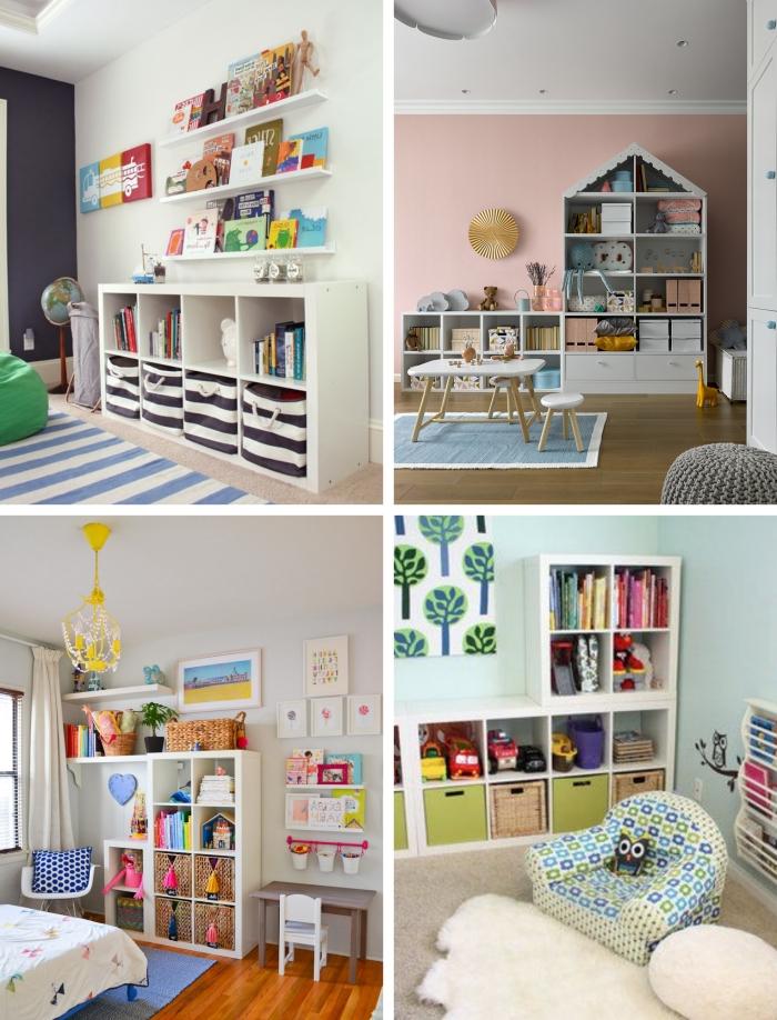 comment optimiser espace dans chambre enfant meuble jouets rangement étagère ikea