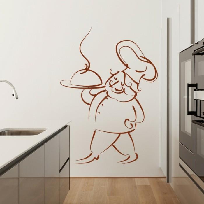 Couleur peinture cuisine 66 id es fantastiques for Pochoirs peinture murale