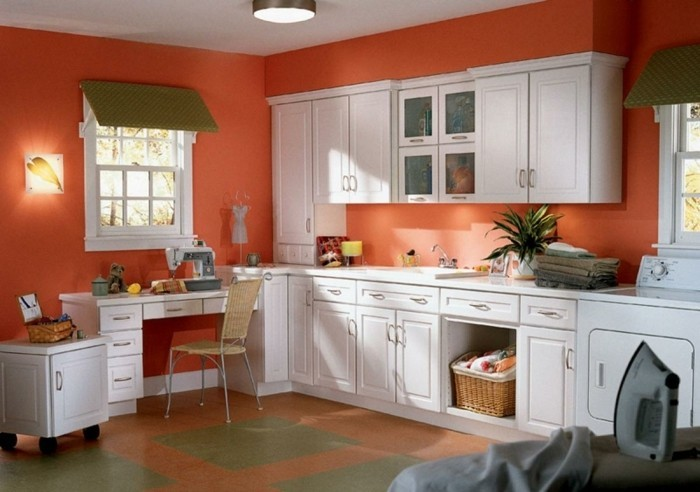 Couleur peinture cuisine 66 idees fantastiques for Kitchen colors with white cabinets with home sweet home canvas wall art