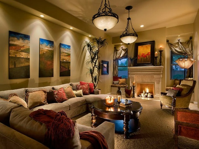 Salle De Bain Inspiration Orientale : … salon-beige-decor-majestueux-solution-deco-luxe-inspiration-orientale