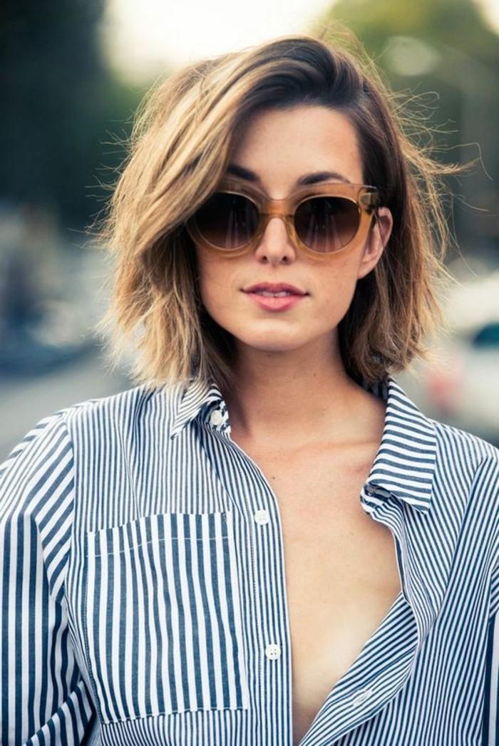 coupe-de-cheveux-marrons-chatin-coiffure-courte-femme-aux-lunettes-de-soleil-noir