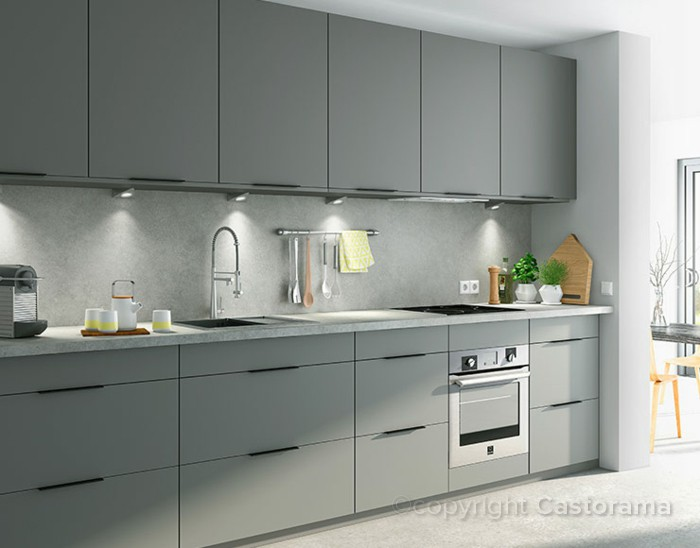 Meuble cuisine gris anthracite maison design for Gris anthracite cuisine
