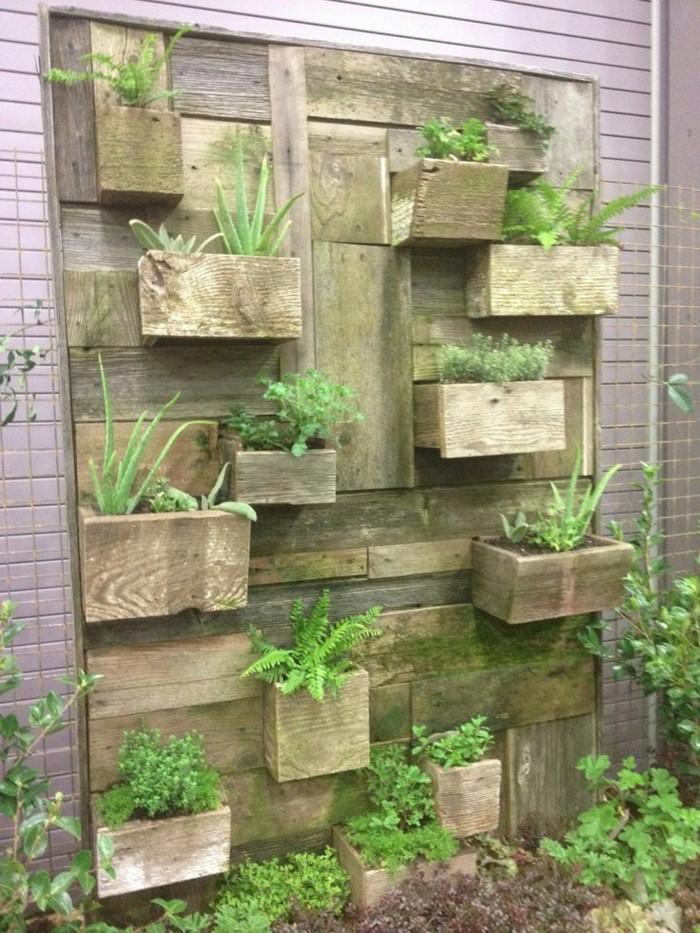 D coration murale ext rieure 72 id es et conseils en photos - Decoration murale jardin ...
