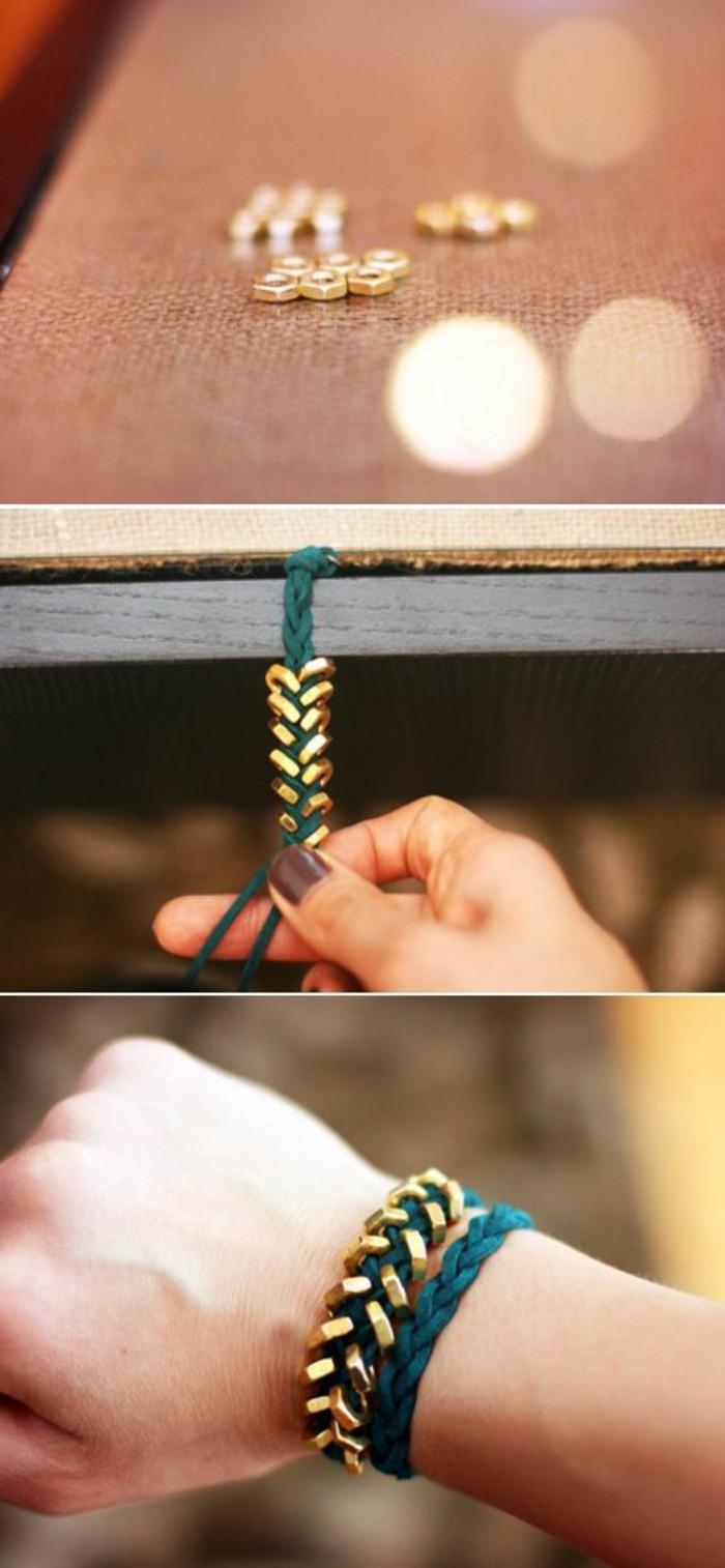 diy-idee-bracelet-a-faire-soi-meme-en-fin-vert-comment-fabriques-des-bijoux-a-la-maison