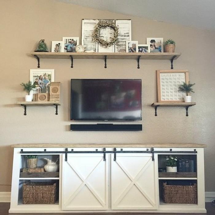 Fabriquer un meuble tv  instructions et modèles DIY -> Meuble Tv Angle A Faire Soi Meme