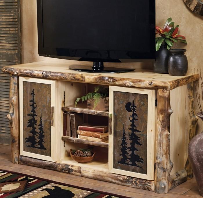 diy-meuble-tv-rustique-et-extremement-elegant-idee-geniale-pour-un-meuble-en-palette