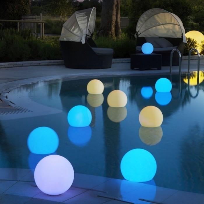 Clairage piscine 56 id es et conseils pour la sublimer for Luminaire exterieur terrasse piscine