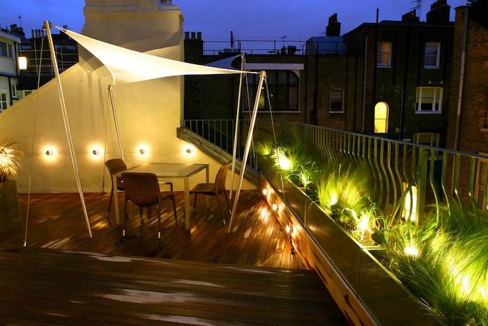 Clairage terrasse 60 id es et conseils pour un for Eclairage exterieur terrasse design