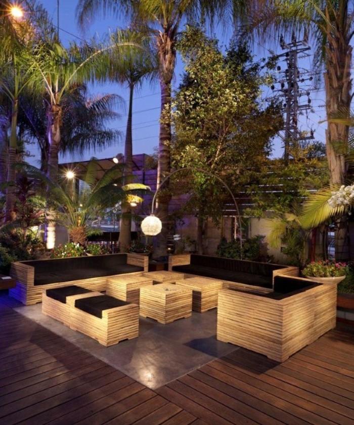 Clairage terrasse 60 id es et conseils pour un clairage id al for Idee terrasse exterieur