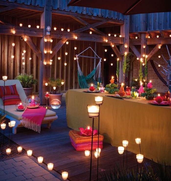 eclairage-terrasse-bougies