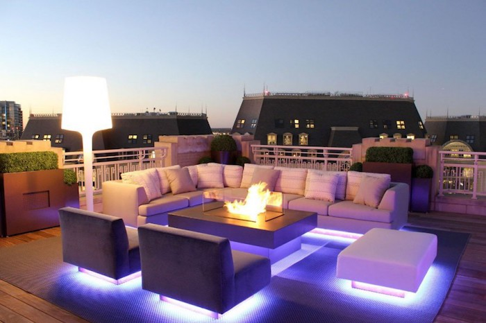 1001 id es clairage terrasse 60 id es et conseils for Lumiere exterieur design