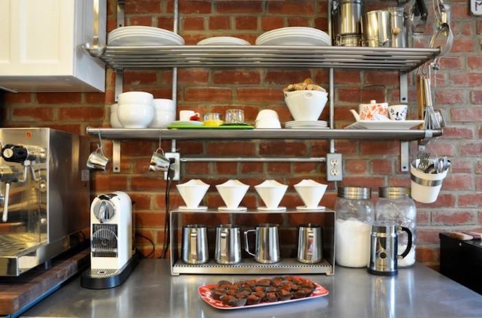 Tag re cuisine design les 39 meilleures id es - Etagere inox cuisine professionnelle ...