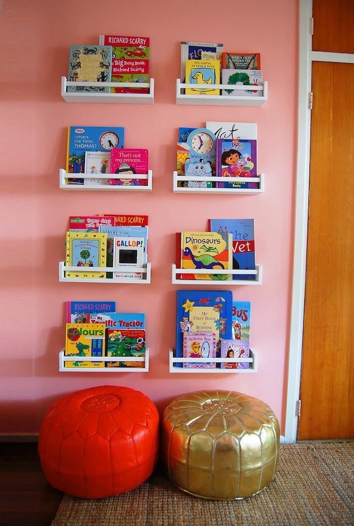 Tag re enfant 50 mod les de rangements pour la rentr e - Etagere murale pour livre ...