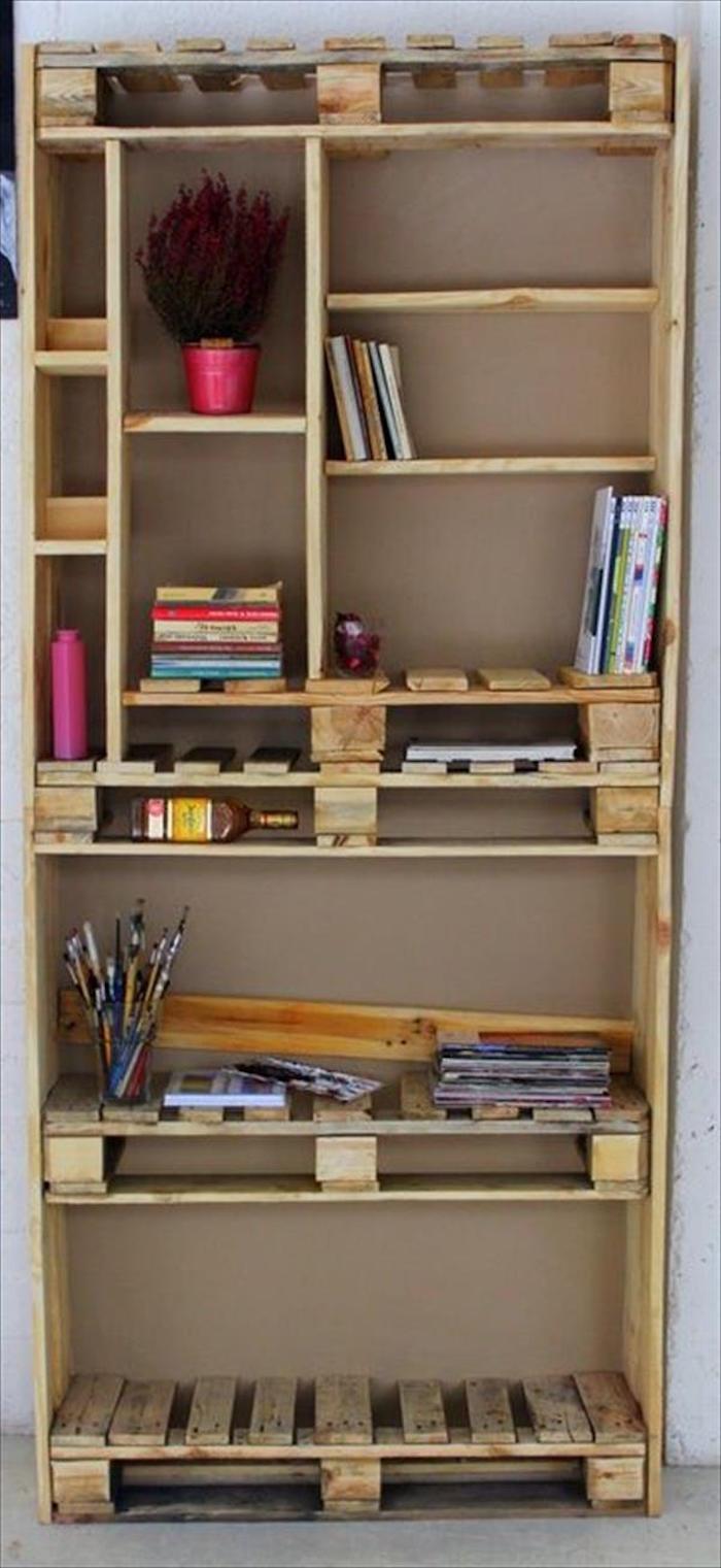 Armoire En Bois De Palette : fabriquer etagere en palette meubles palettes planches en bois