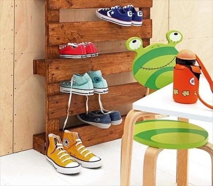 Superb fabriquer une etagere a chaussures 5 etagere - Fabriquer ses meubles en palette ...