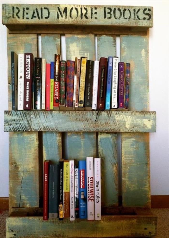Tag re palette 49 id es et un tutoriel pour la fabriquer - Fabriquer une bibliotheque avec des palettes ...