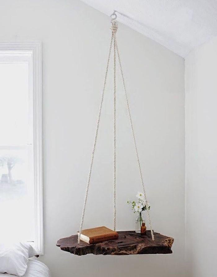 fabriquer-etagere-suspendue-etagere-meuble-suspendu-chambre-bois-planche-corde-crochet-idee-tuto-comment-bricolage-diy-facile