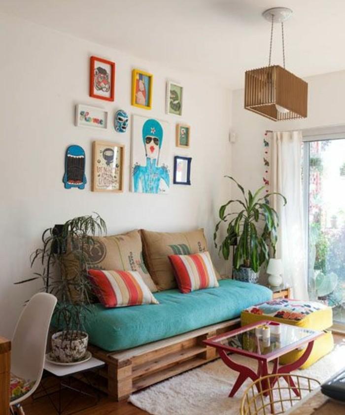 Comment fabriquer un canap en palette tuto et 60 super for Petit canape confortable