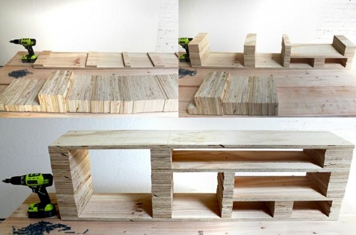 fabriquer un meuble tv idee meuble tv en - Meuble Tv En Palette Plan