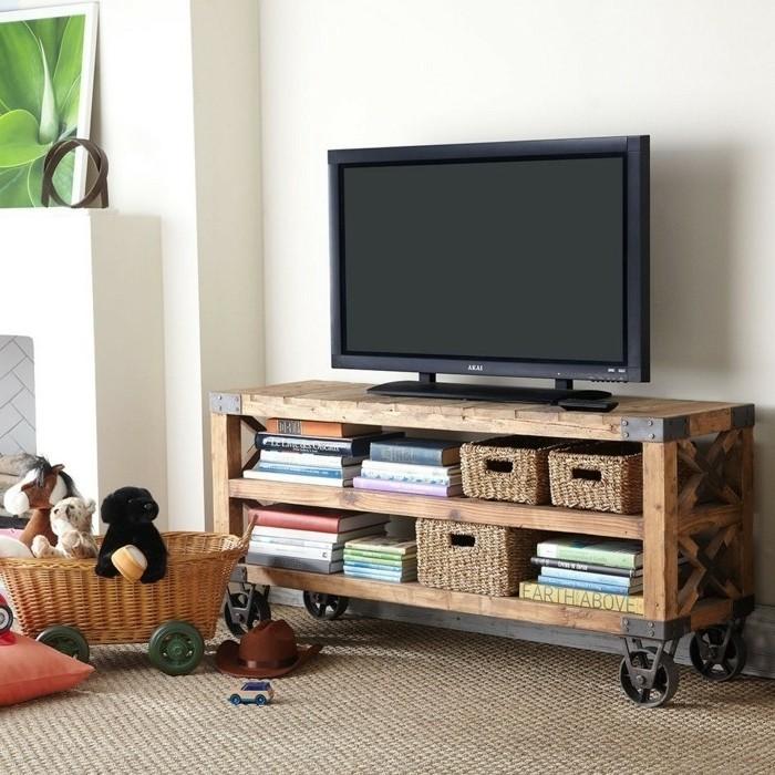 fabriquer-un-meuble-tv-meuble-minimaliste-a-roulettes