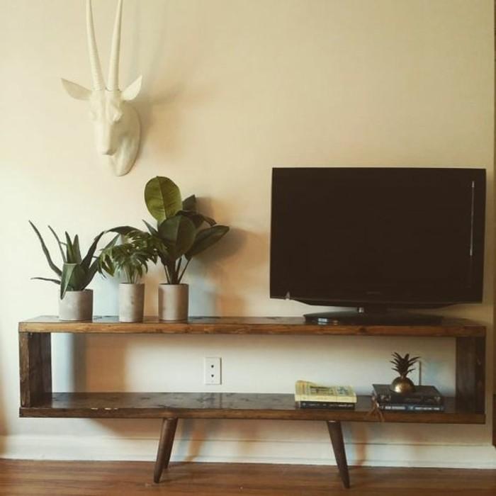 fabriquer-un-meuble-tv-bois-marron-mobilier-minimaliste