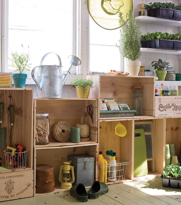 Diy  Recycler Une Caisse En Bois Deco En  Ides  ArchzineFr
