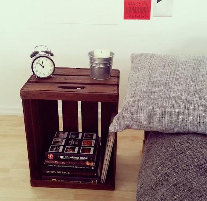 fabriquer-une-caisse-en-bois-deco-pas-cher-meuble-etagere-table-de-chevet-recycler-vieille-caissette-pomme-boite-vin-ancienneidee-decoration-diy