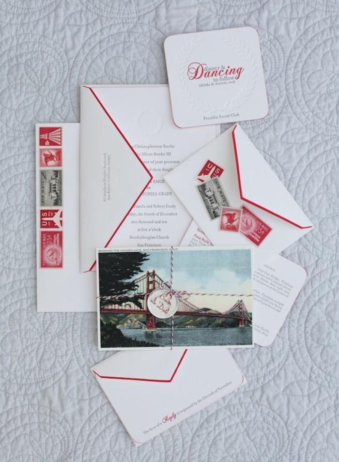 faire-part-creatif-mariage-en-papier-luxe-blanche-et-rouge-avec-photo
