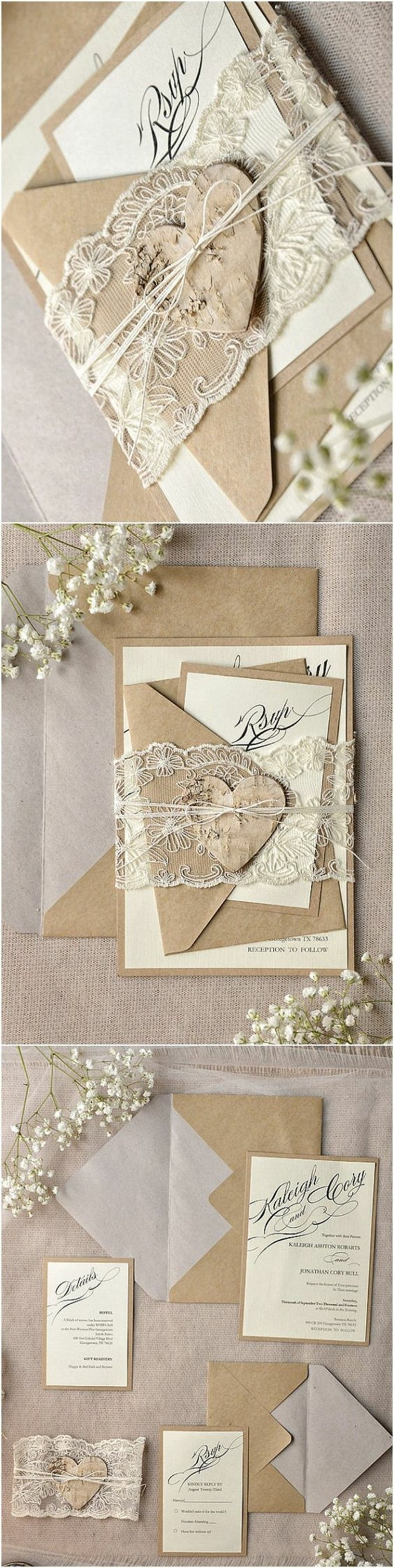 Lace Wedding Invitation is luxury invitations ideas