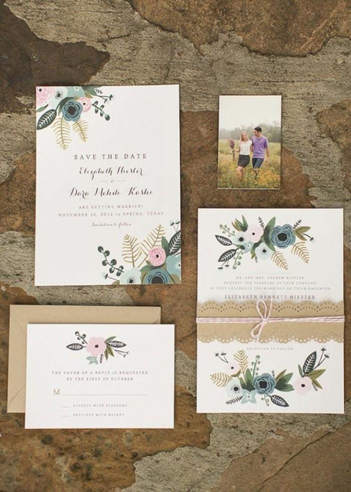 ffaire-part-mariage-personnalise-faire-part-mariage-champetre-jolie-carte-avec-dessin-de-fleurs-et-petit-ruban