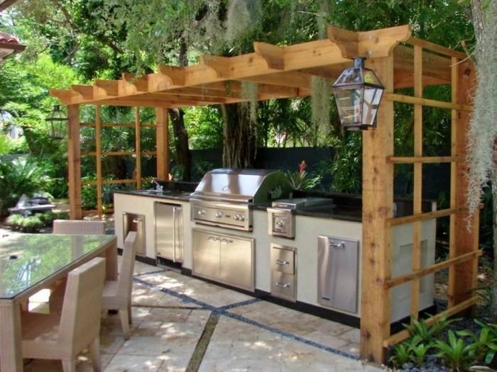 formidable-suggestion-comment-fabriquer-une-pergola-bois-pour-abriter-un-coin-cuisine-en-plein-air
