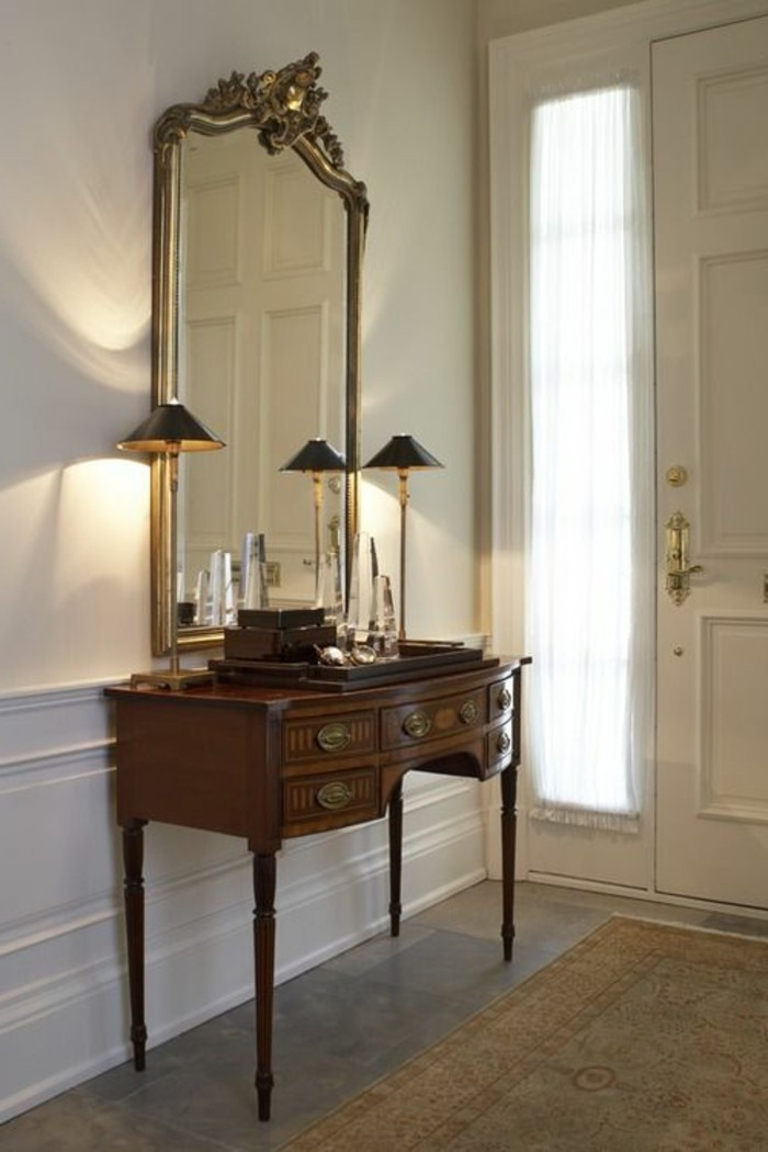 grand-miroir-ancien-commode-vintage-table-console