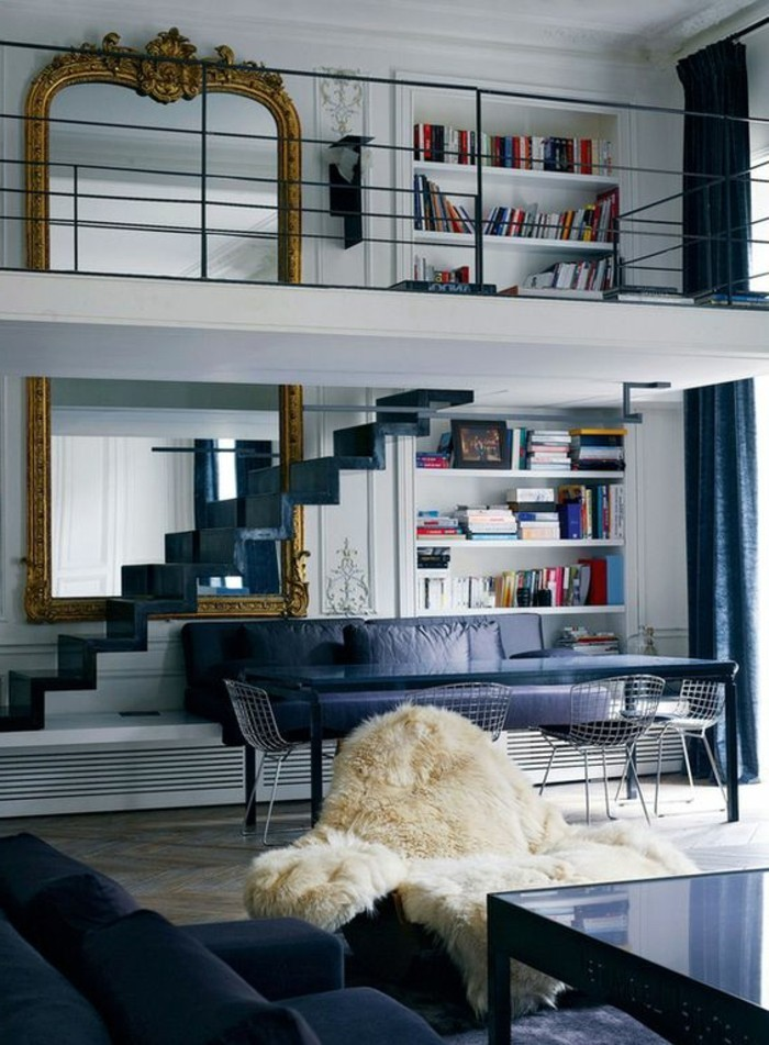 grand-miroir-ancien-escaler-loft-mezzanine